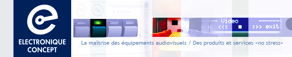 electronique concept la ma trise des quipements audiovisuels. Black Bedroom Furniture Sets. Home Design Ideas